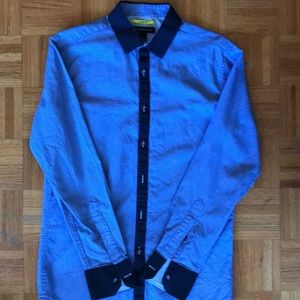 INC light blue dress shirt- slim fit S